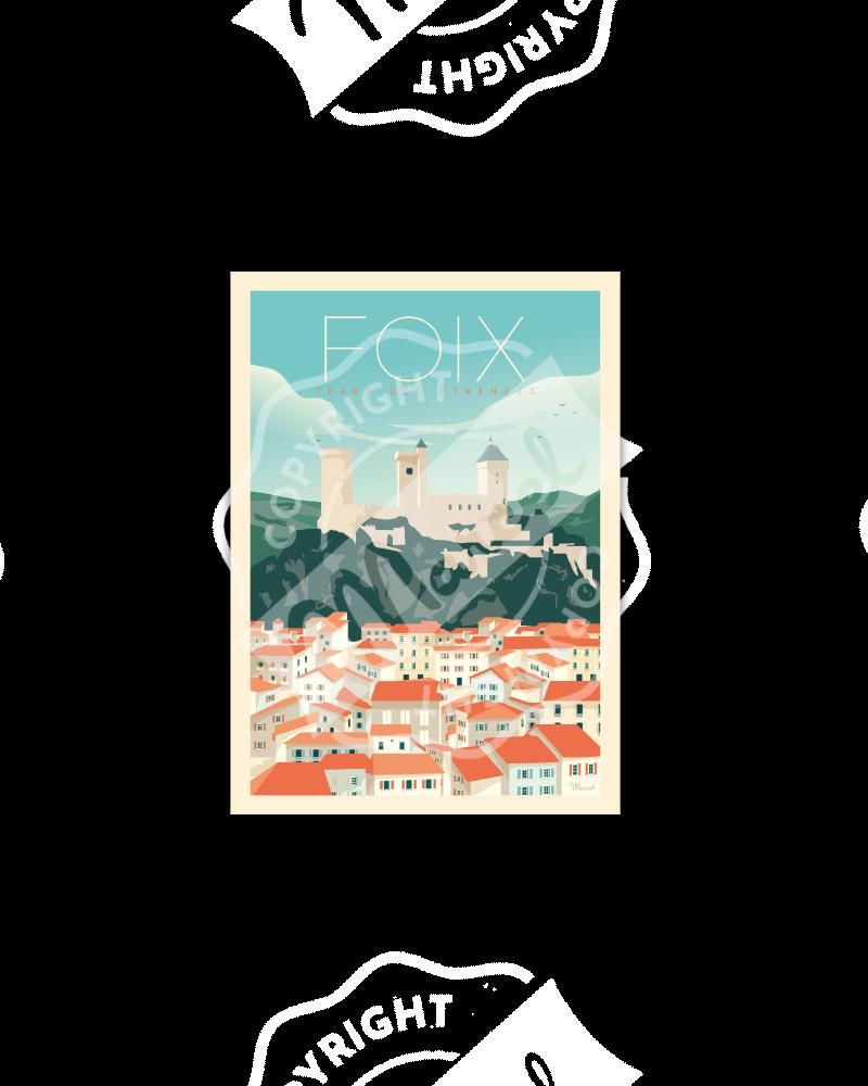 Postcard  FOIX