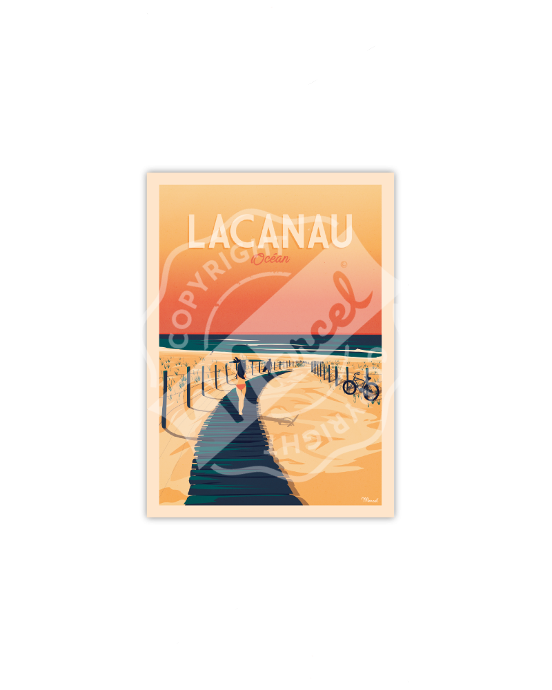 Postcard LACANAU OCEAN