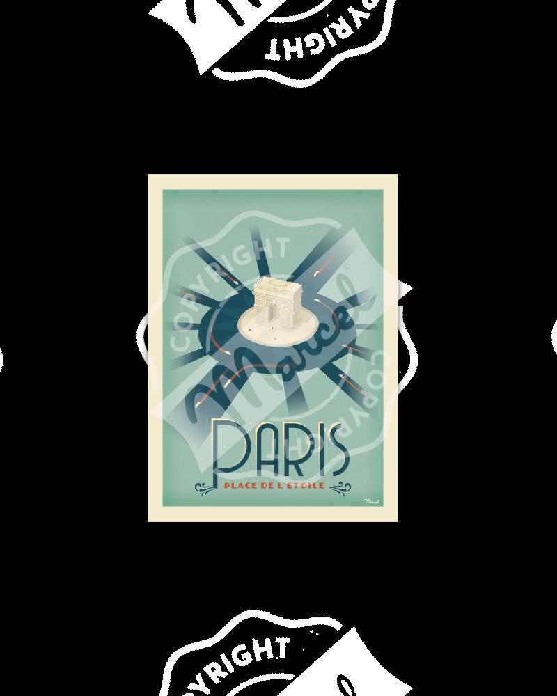 """Postcard  PARIS """"Place de..."""