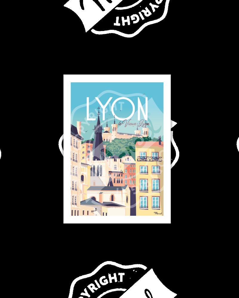 Postcard LYON «Le Vieux Lyon»
