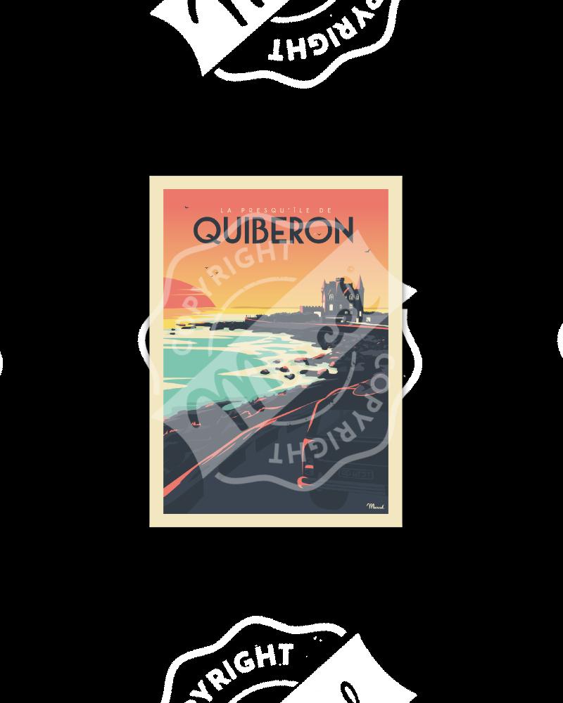 Postcard QUIBERON «Château...