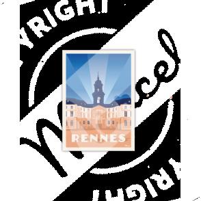 Carte Postale Marcel RENNES «Hôtel de Ville»