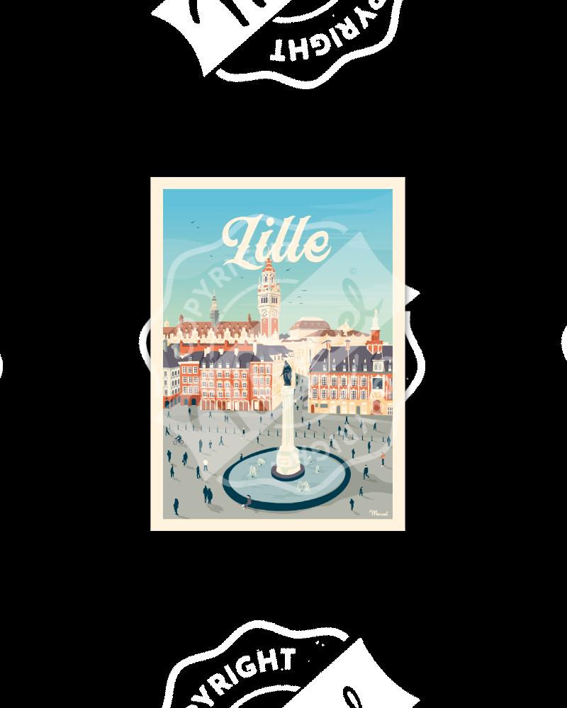 """Postcard LILLE """"La Grand..."""