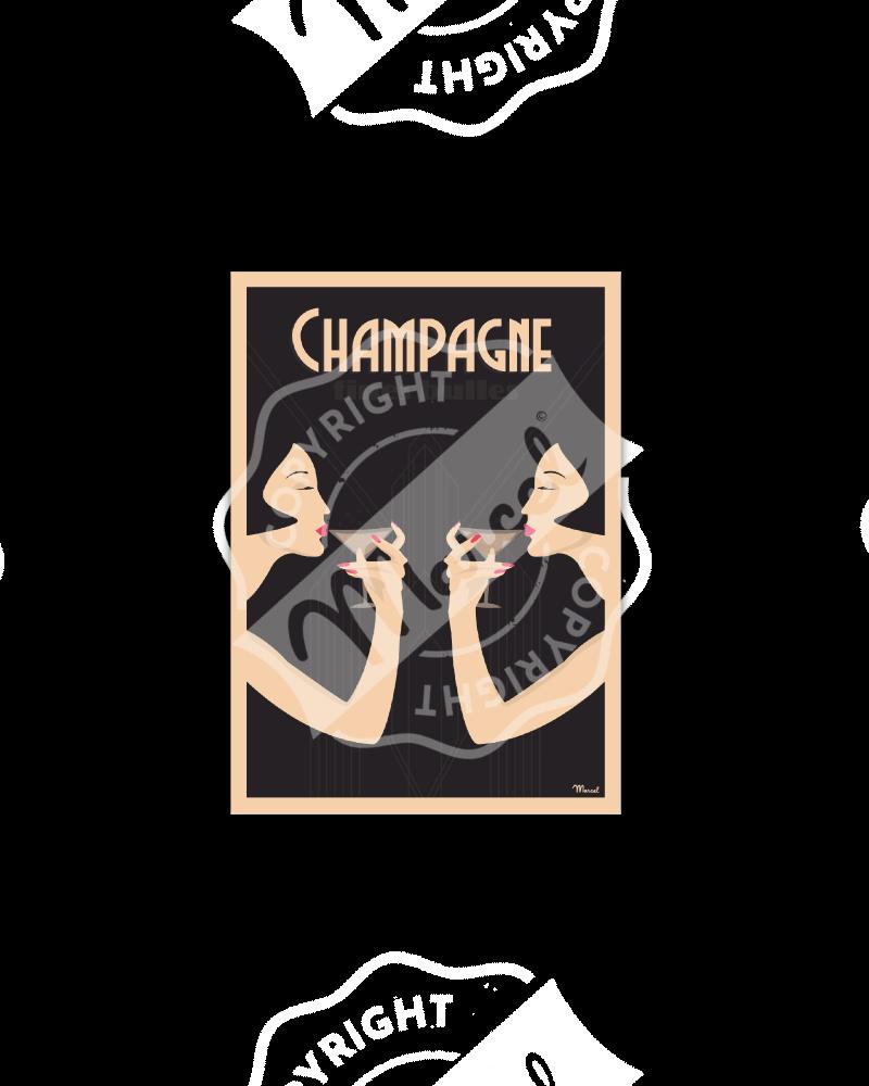 Postcard CHAMPAGNE «Fines...