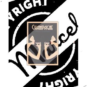 Cartes Postales Marcel CHAMPAGNE «Fines Bulles»