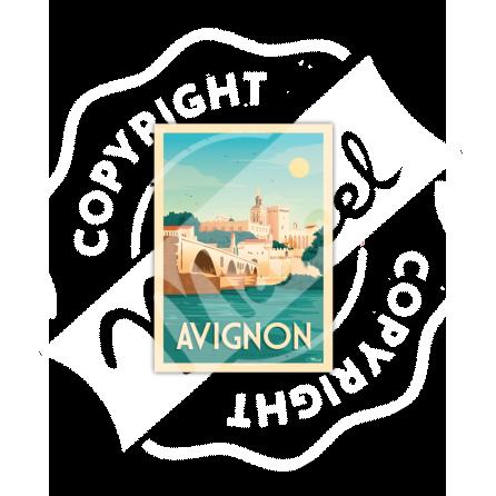 Cartes Postales AVIGNON «La Cité des Papes»