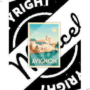 Postcard AVIGNON «La Cité des Papes»