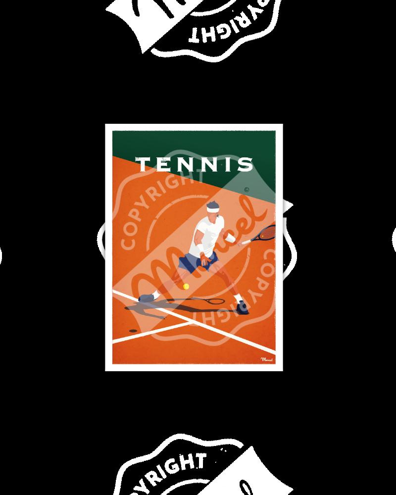 Postcard TENNIS