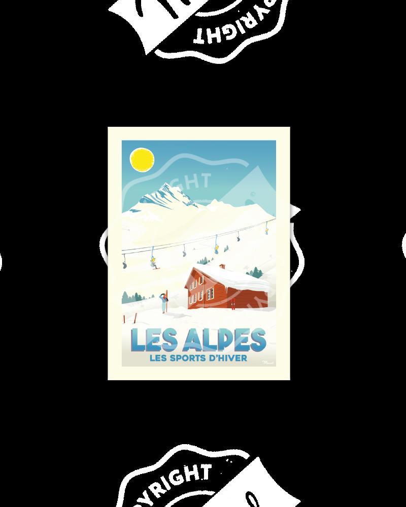 "Postcard Marcel ALPES "" Les..."