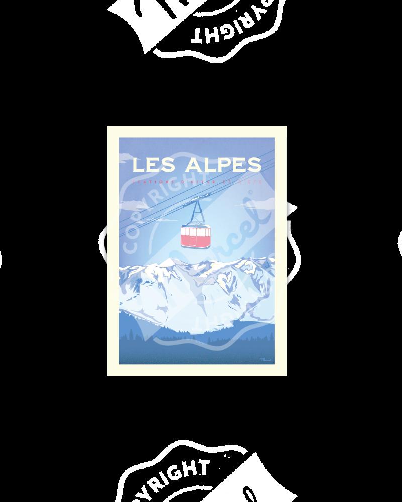 "Postcard Marcel ALPES "" Le..."