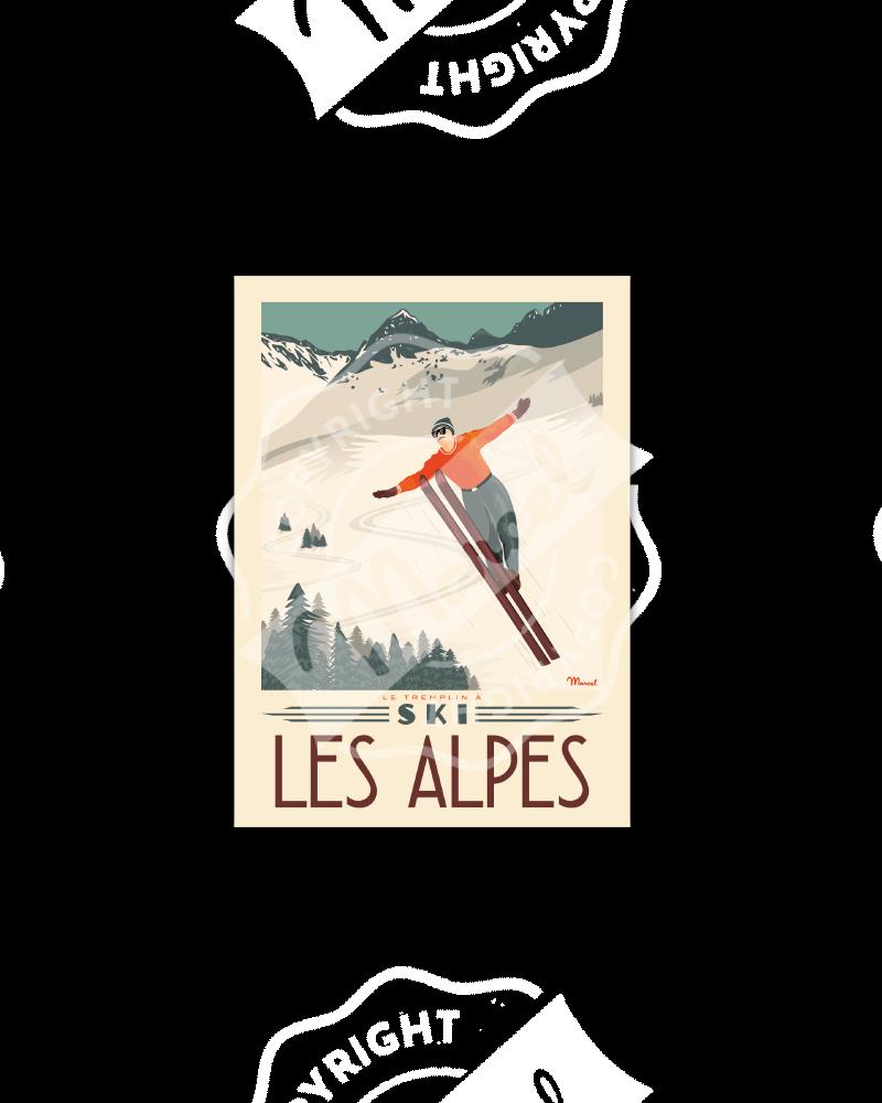 "Postcard Marcel ALPES ""..."