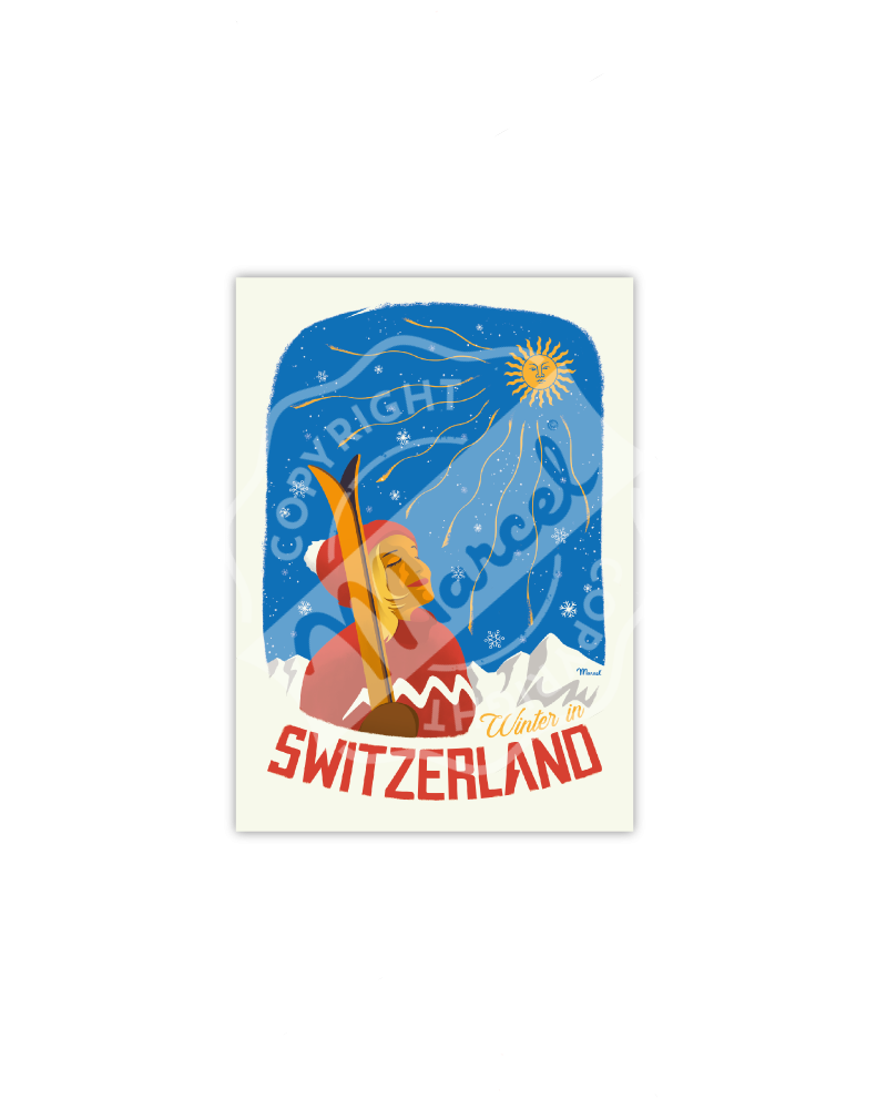 Cartes Postales SUISSE ''Winter in Switzerland''