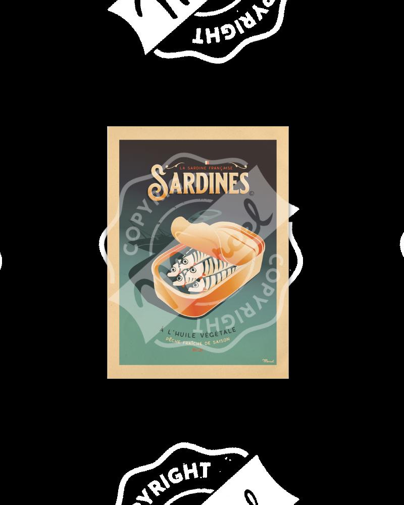 Cartes Postales Marcel LES SARDINES
