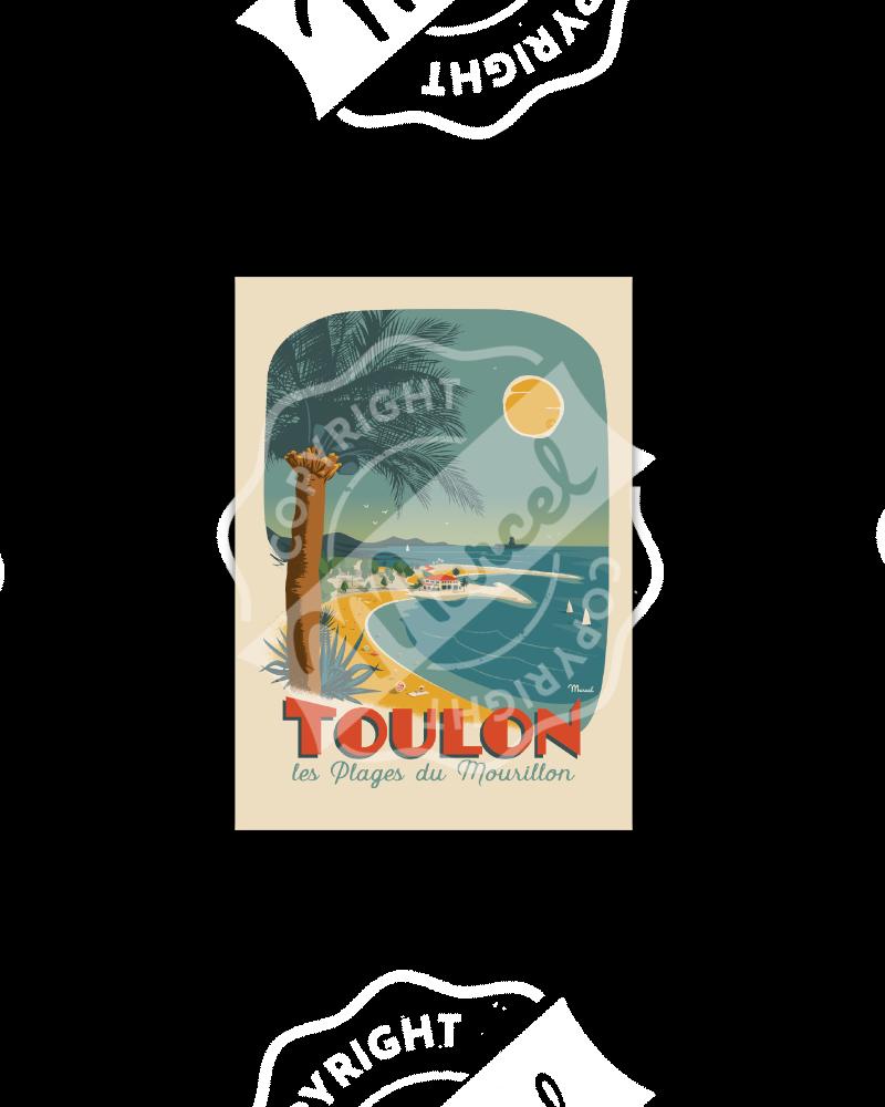 Postcard TOULON ''Plage du...
