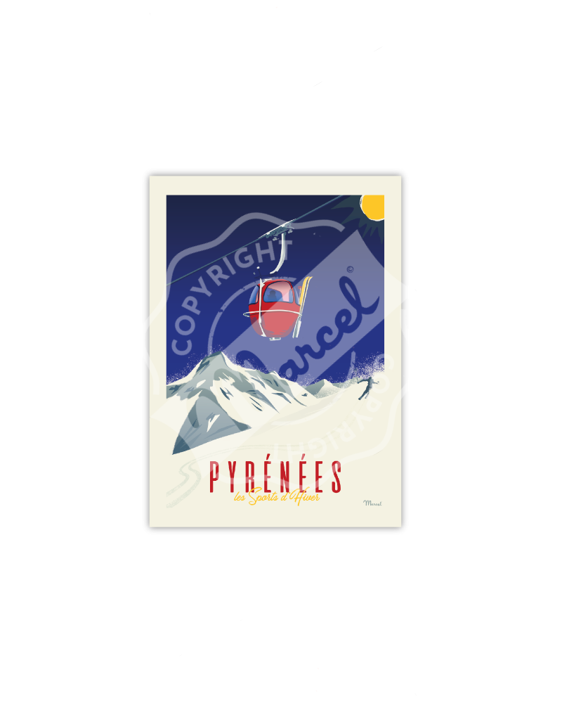 Postcard PYRENEES ''La...