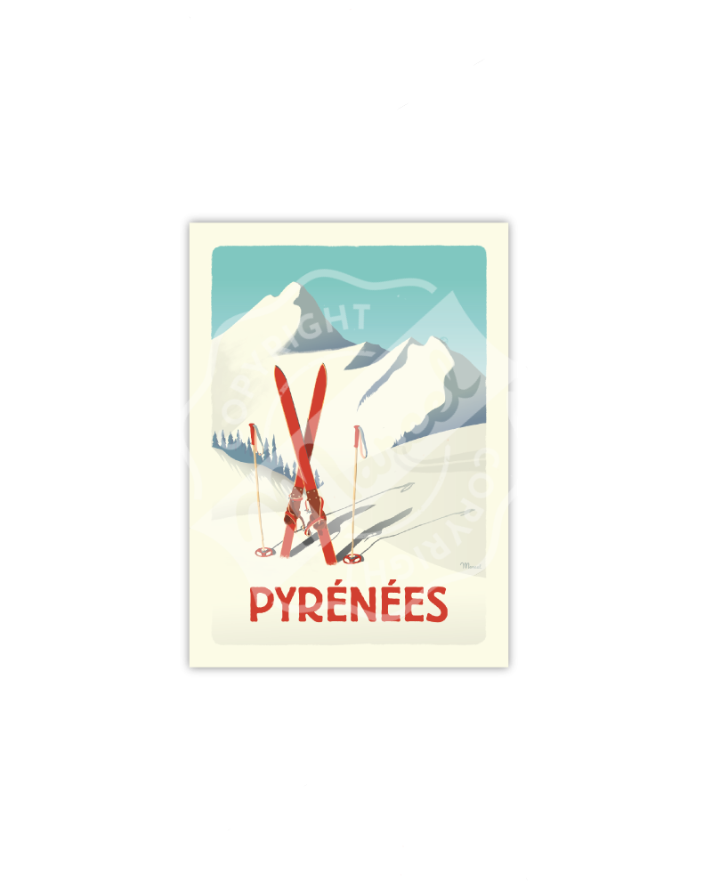 PYRENEES ''Les Skis Rouges''