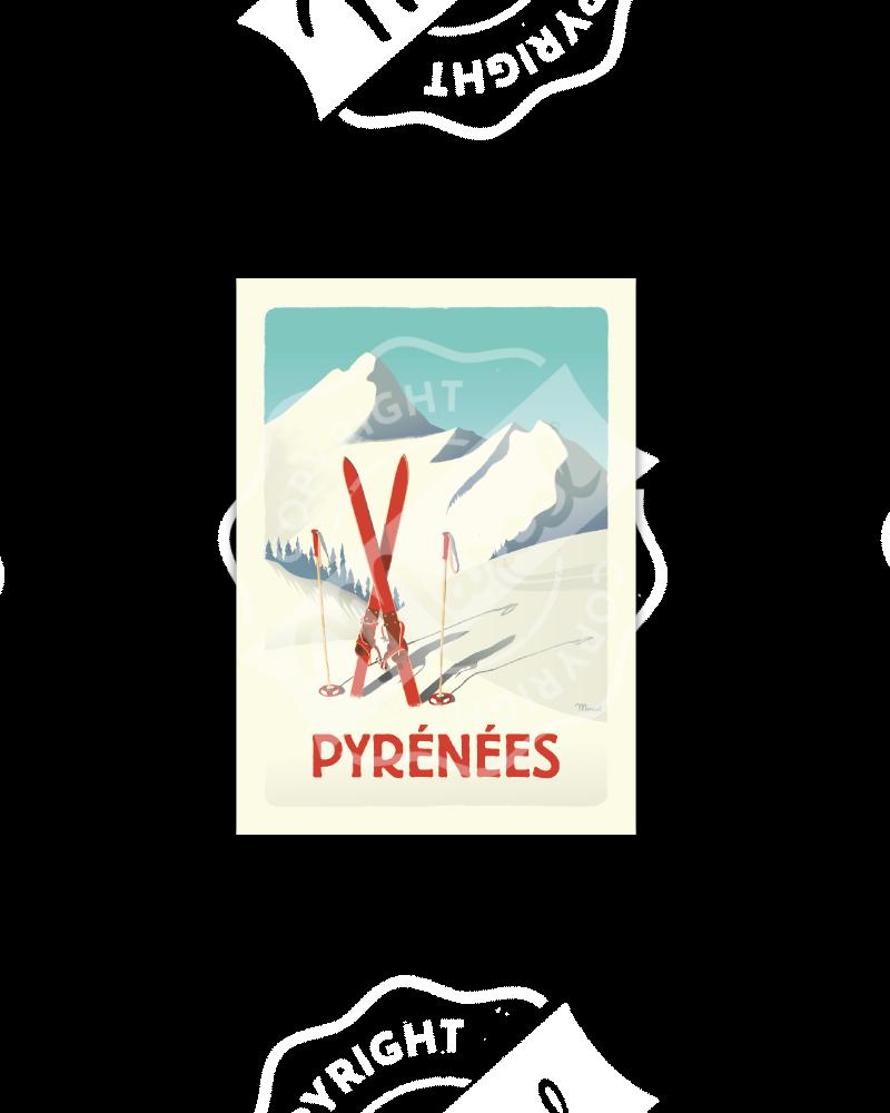 Postcard PYRENEES ''Les...