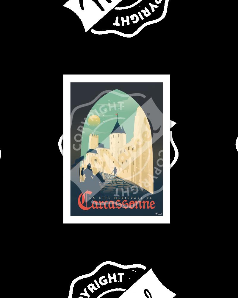 Postcard CARCASSONNE ''La...