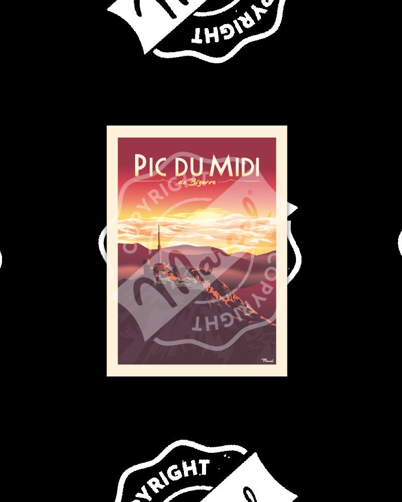 Cartes Postales PIC DU MIDI de Bigorre