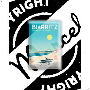 """MAGNET BIARRITZ """"Vacances à la Grande Plage"""""""