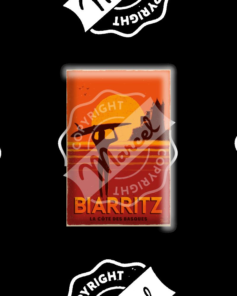 """MAGNET BIARRITZ """"Côte des Basques"""""""