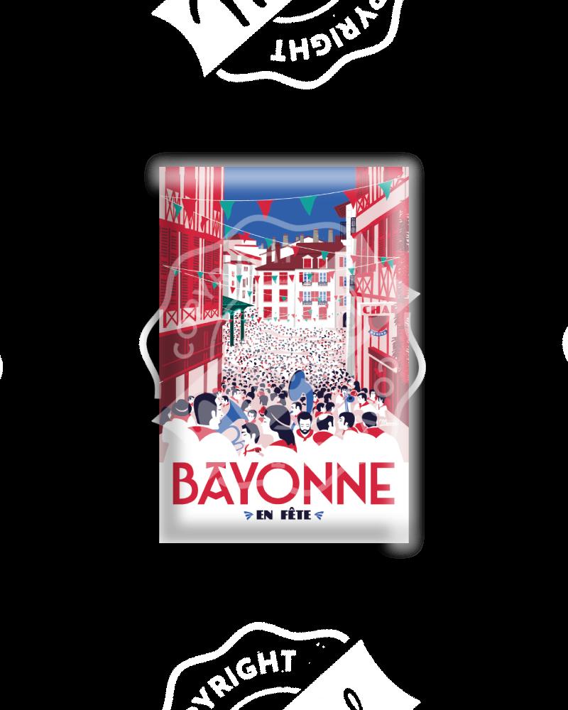 """MAGNET """"BAYONNE en fête"""""""