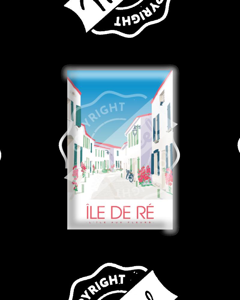 """MAGNET ILE DE RE """"L'île aux fleurs"""""""