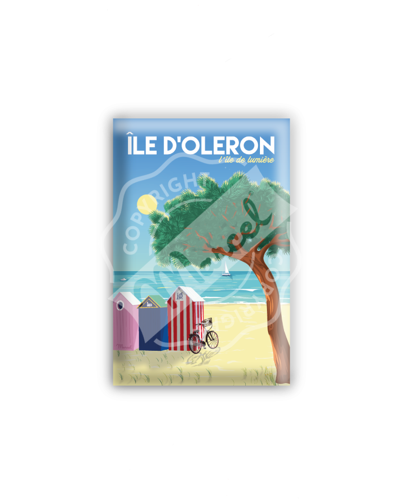 "MAGNET ILE D'OLERON ""L'île..."