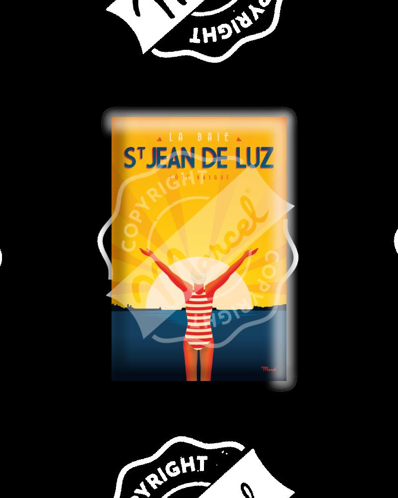 """MAGNET SAINT JEAN DE LUZ  """"La Baigneuse"""""""