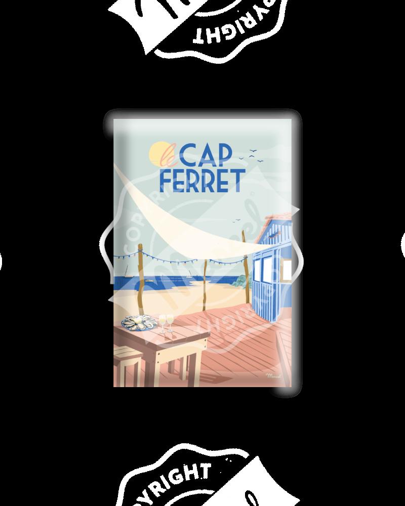MAGNET CAP FERRET «Cabane à Huitres»