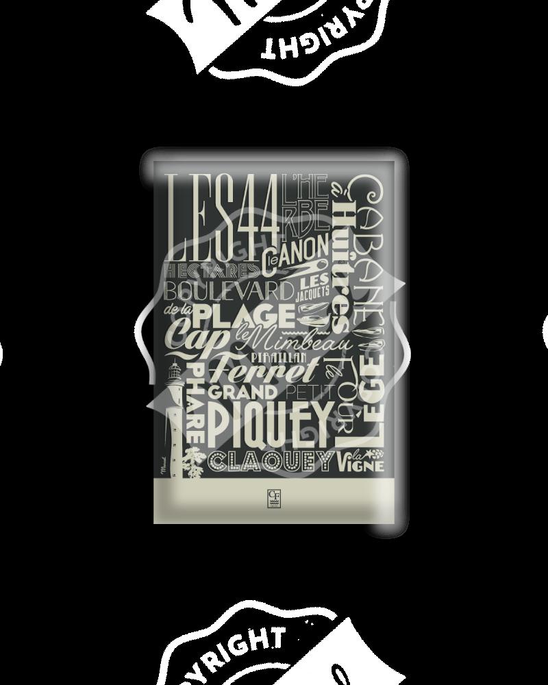 MAGNET CAP FERRET «Typography»