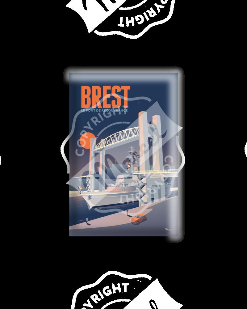 MAGNET BREST «Le pont de Recouvrance»