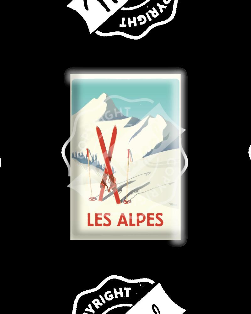 MAGNET LES ALPES - Les Ski Rouges