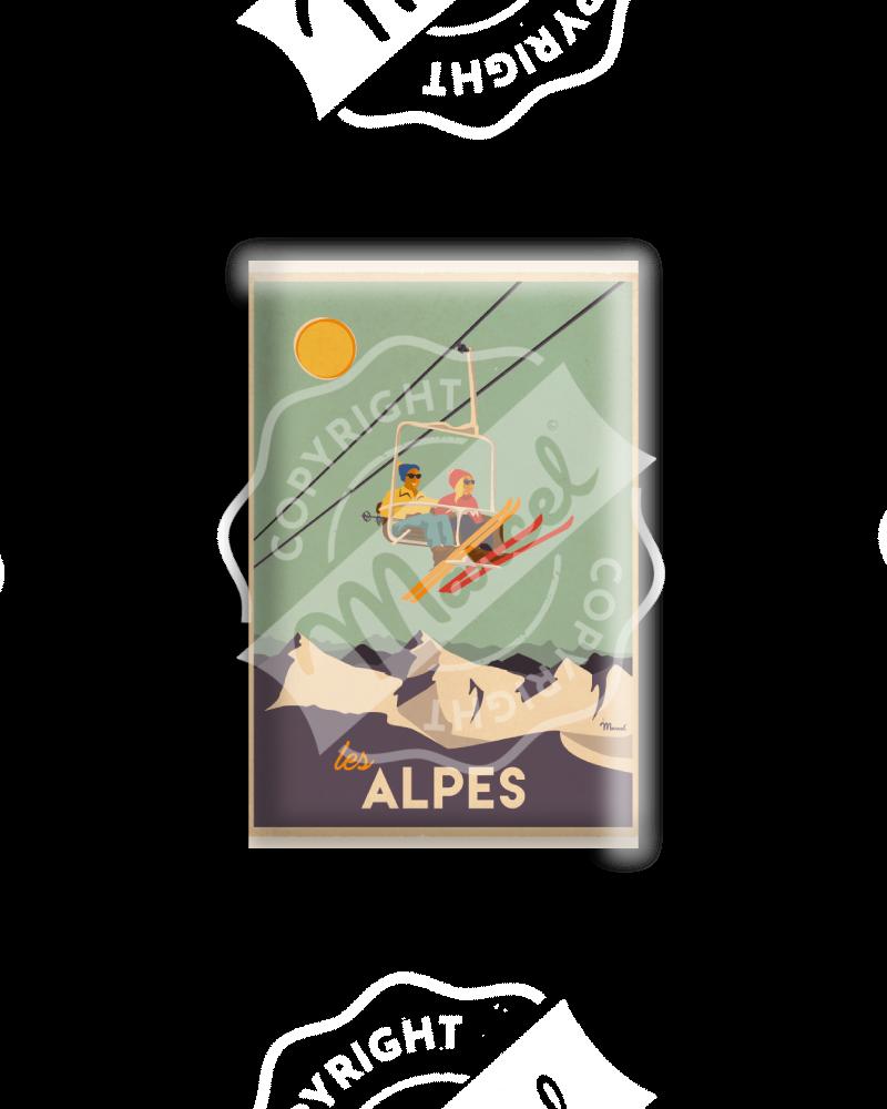 MAGNET LES ALPES - Le Télésiège