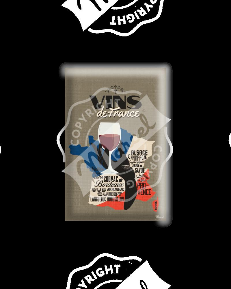 MAGNET VINS DE FRANCE
