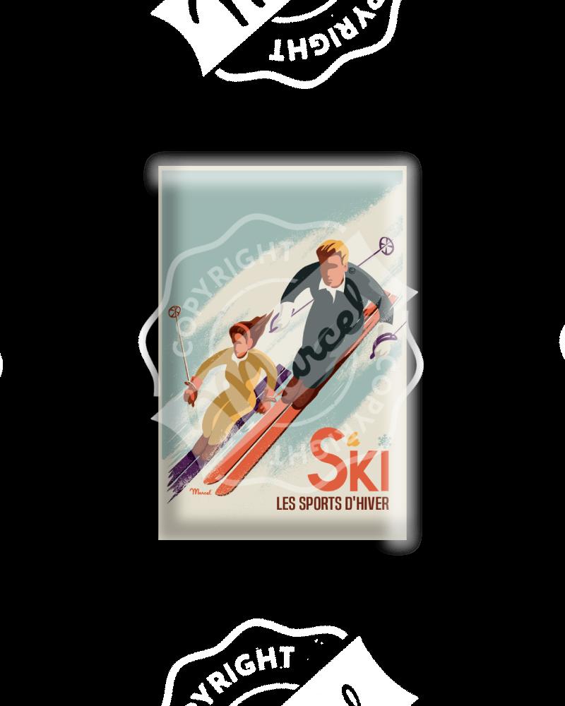 MAGNET CLASSICS WINTER - Les Skieurs
