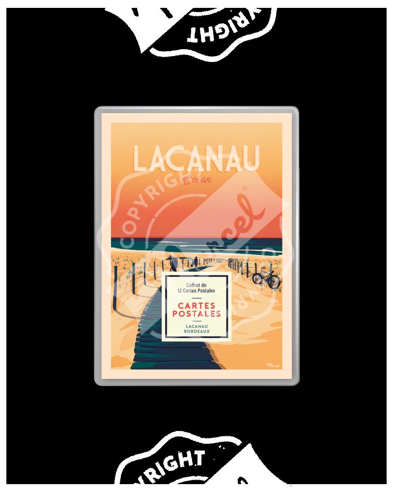 COFFRET CARTES POSTALES LACANAU / BORDEAUX