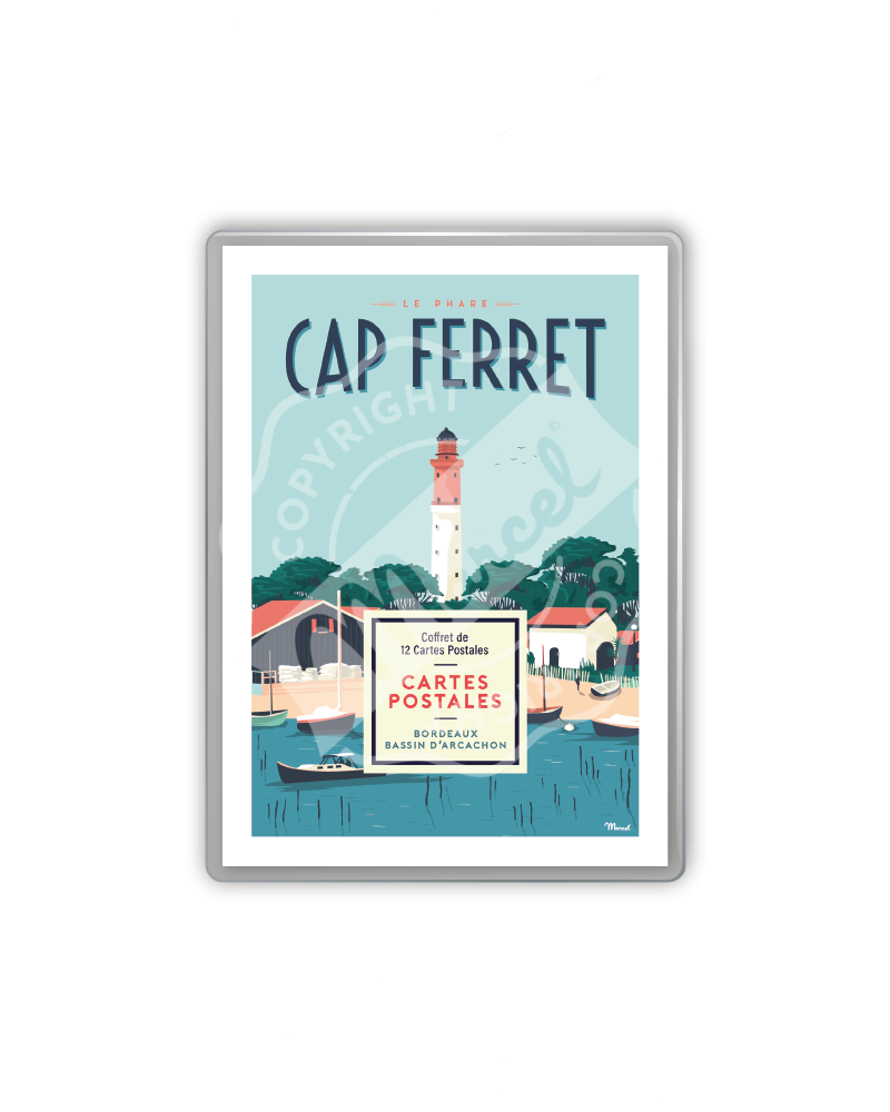 Postcards box - Cap Ferret...