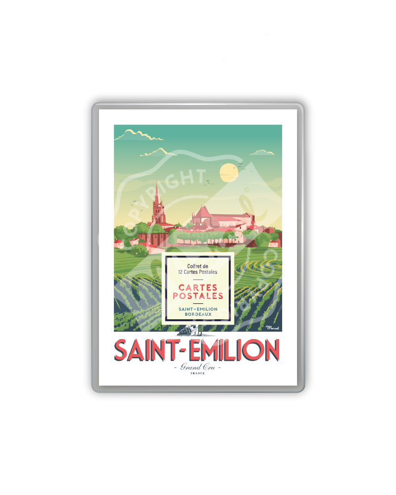 COFFRET CARTES POSTALES SAINT-EMILION / BORDEAUX
