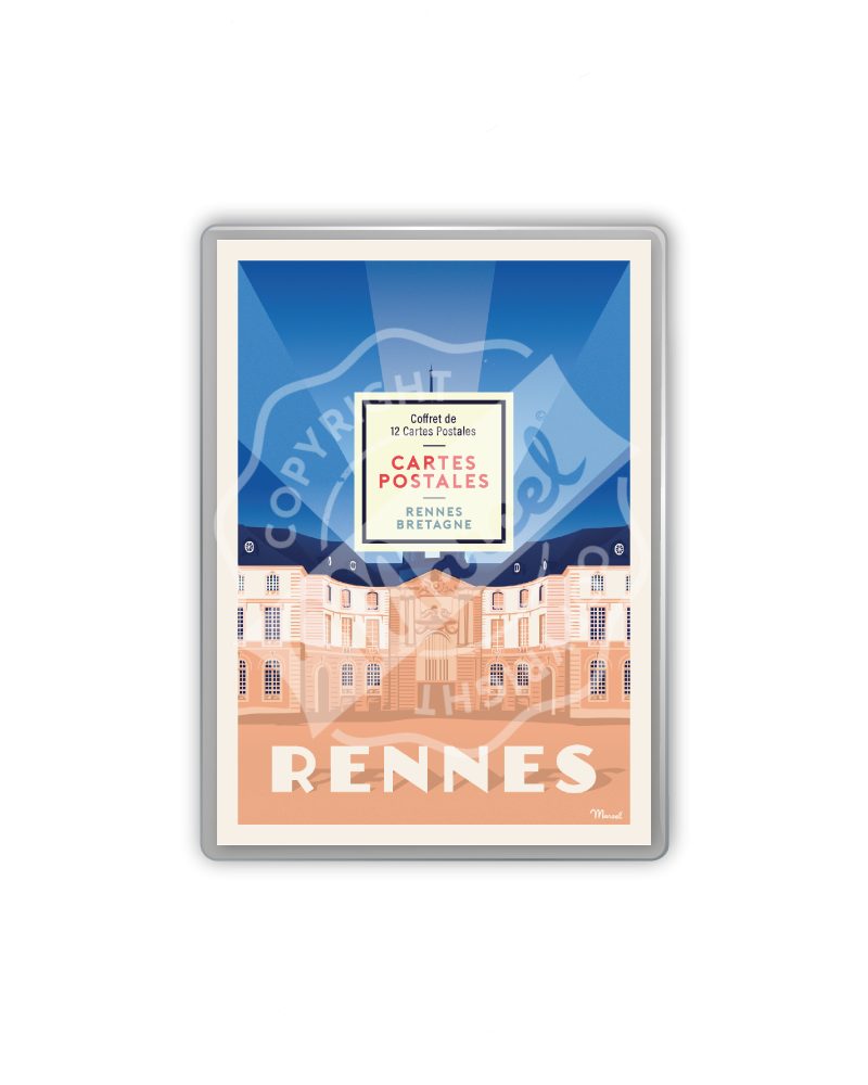 COFFRET CARTES POSTALES RENNES / BRETAGNE