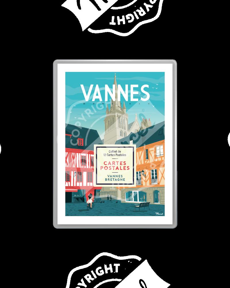 COFFRET CARTES POSTALES VANNES / BRETAGNE