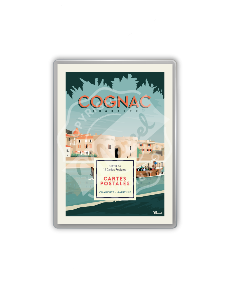 POSTCARDS BOX COGNAC /...