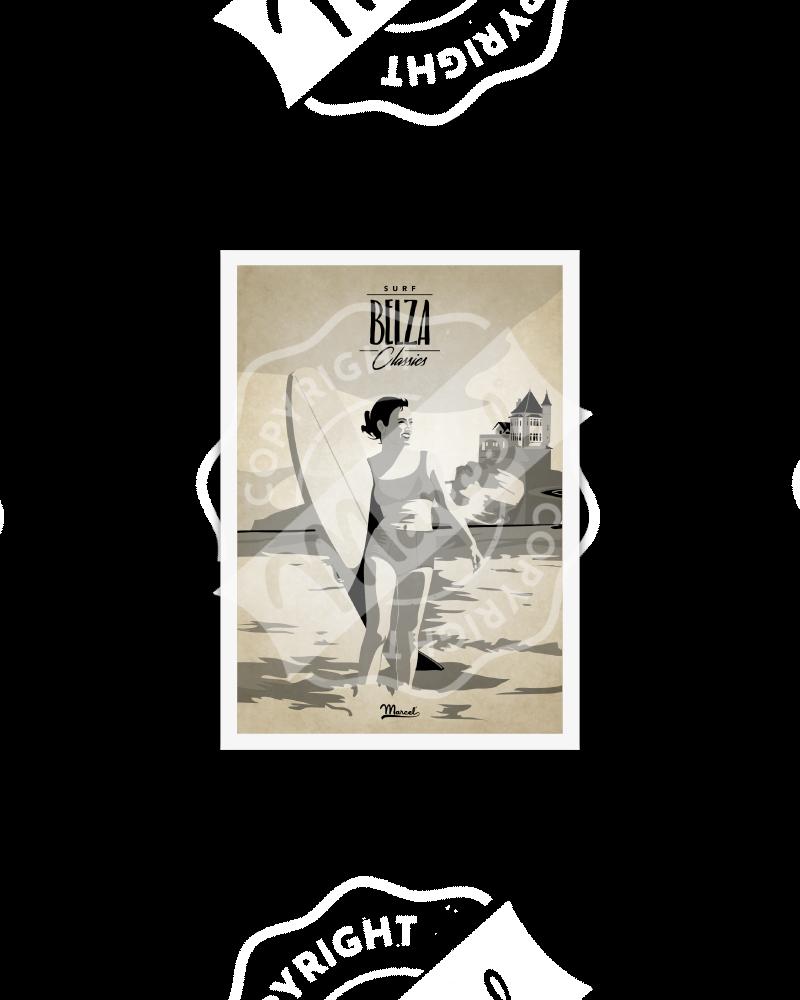 "Postcard Surf Classics ""Belza"""
