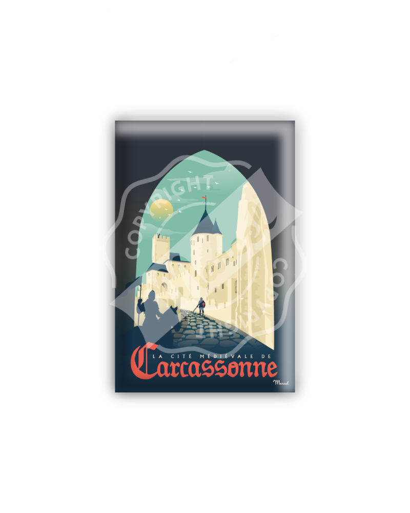 """MAGNET CARCASSONNE """"La Cité Médiévale"""""""
