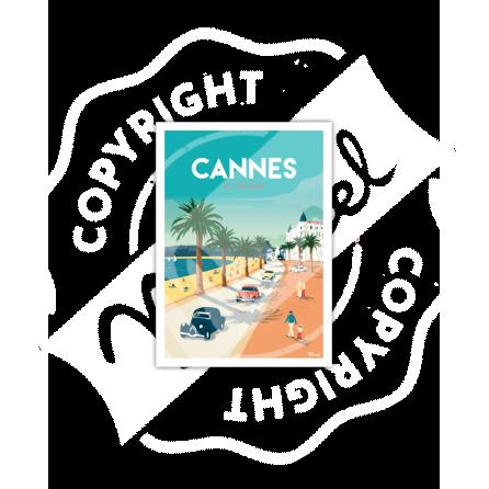 Carte Postale CANNES «La Croisette»