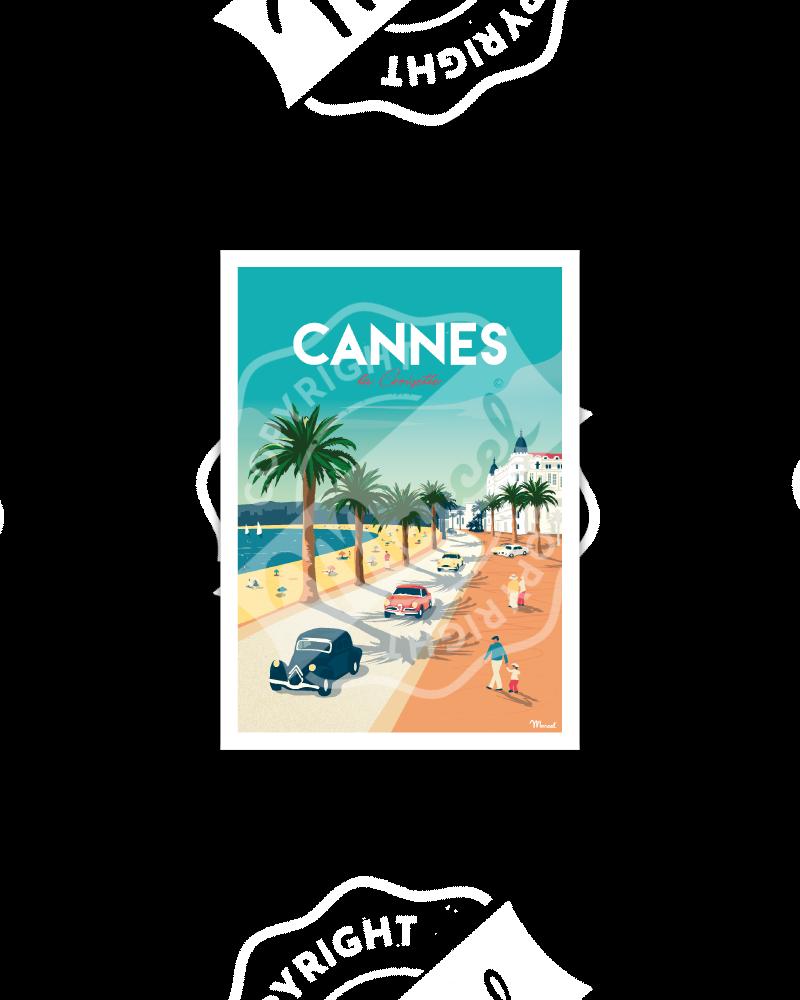 Postcard CANNES «La Croisette»