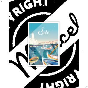 """Carte Postale SETE """"Méditerranée"""""""