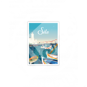 "Postcard SETE ""Méditerranée"""