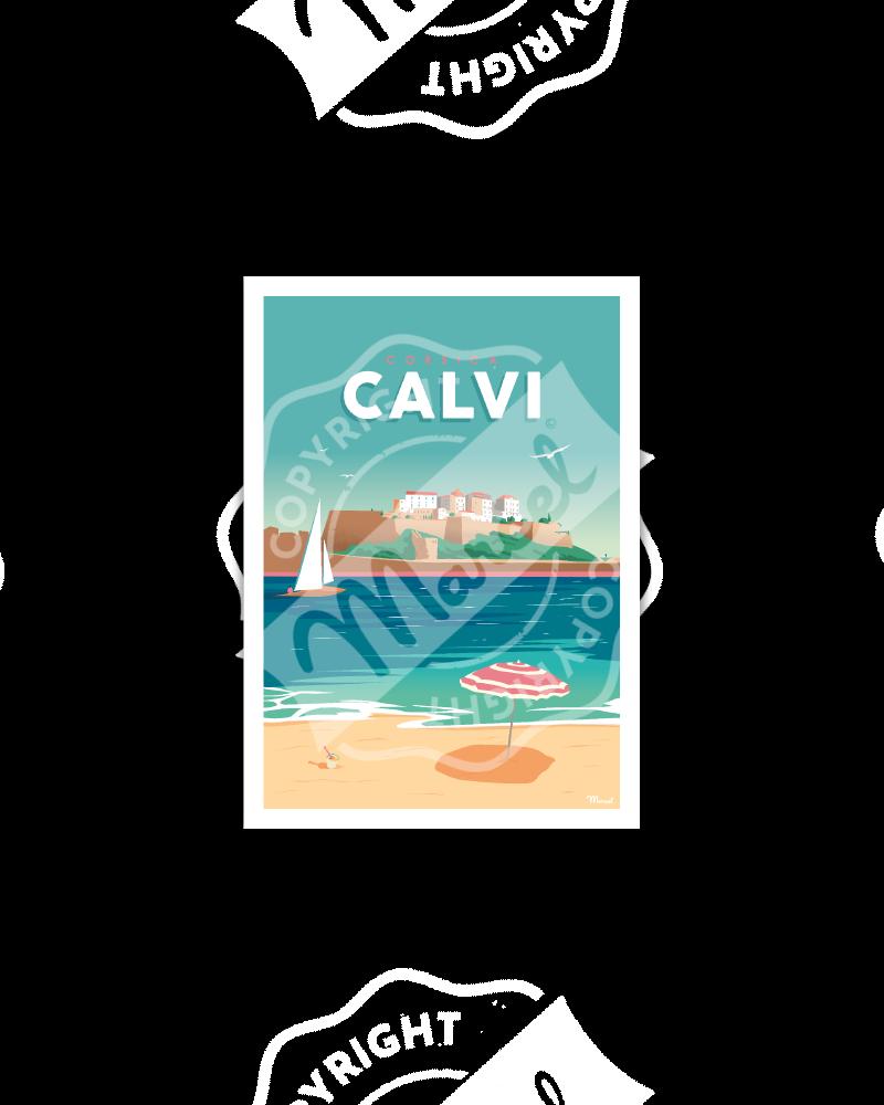 Postcard CALVI
