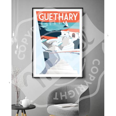 """Affiche Guethary """"La Passerelle"""""""
